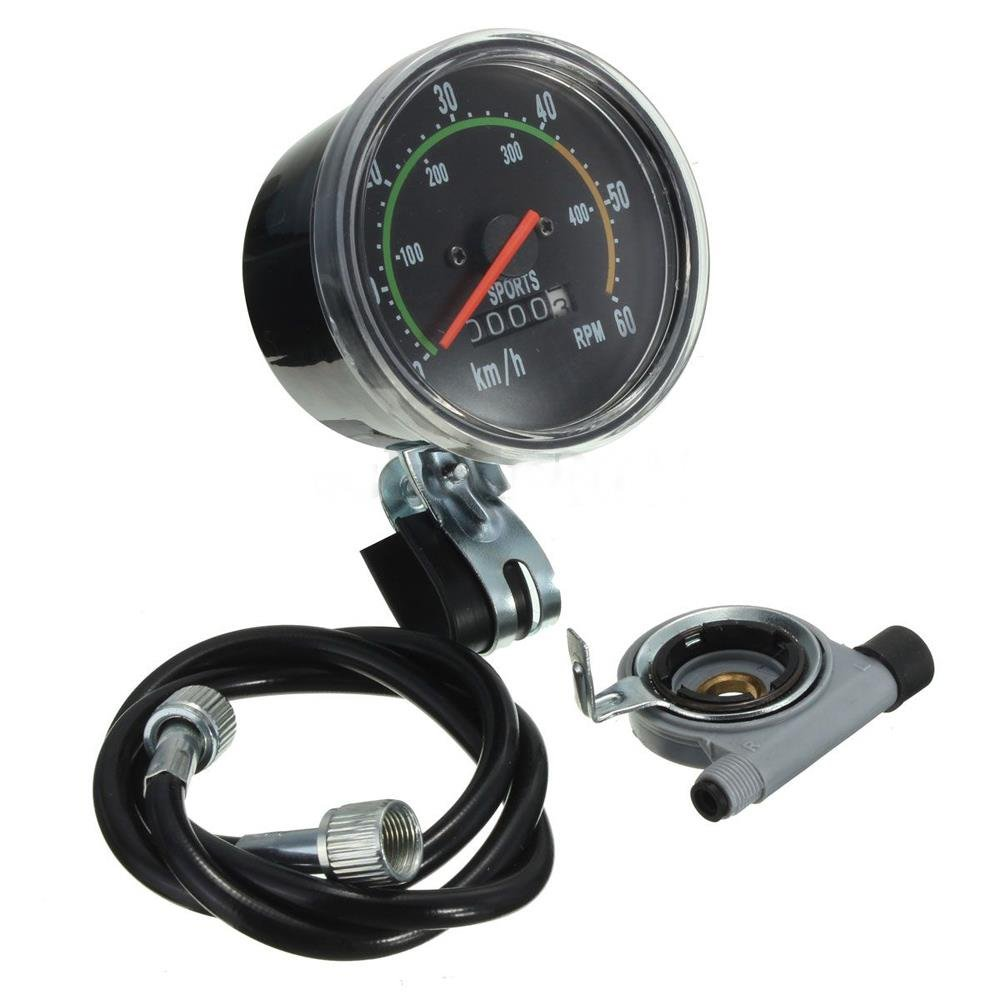 ConPush Bicicleta Velocímetro Tacómetro 80 mm Analógico 28 ...
