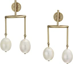 Baroque Double Pearl Earrings