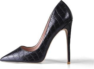 Escarpins Stilettos pour Femmes, Stilettos à Talons Hauts Pointus Fashion, Escarpins Stilettos à Bout fermé pour fêtes, ba...