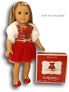 """American Girl Decked Out Holiday Dress for 18"""" Dolls (Doll Not Included)"""