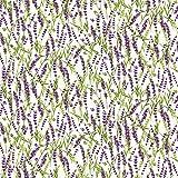 Clothworks Stoff, Lavendelzweige, 0,5 m, süßer Lavendel,