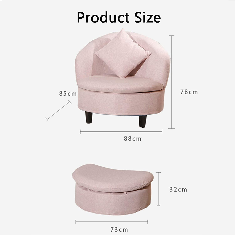BMNN Fauteuil Repose Pieds Fauteuil Inclinable Et Repose-Pieds Fauteuil Relax Inclinable Style Contemporain Chaise Longue Cuir de (Color : Pink) Pink
