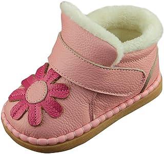 (コ-ランド) Co-land 子供靴 女の子 スノーブーツ 裏ボア 綿靴 キッズシューズ スニーカー ファーストシューズ 赤ちゃんシューズ 花飾り カジュアル 15 ピンク