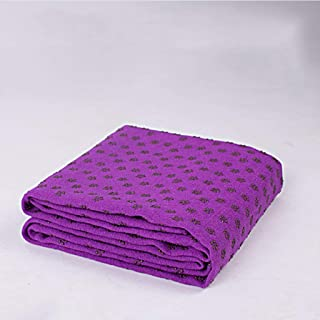 CXQ Yoga Blanket Widening Pad Non-Slip Yoga Towel Thickening Yoga Sweat Towel (Color : Dark Purple)