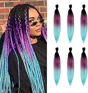 Pre-Stretched Braiding Hair Extensions 26Inch 6 Packs/lot Phoenixfly Heat Resistant Fiber Crochet Hair for Box Braids Sene...