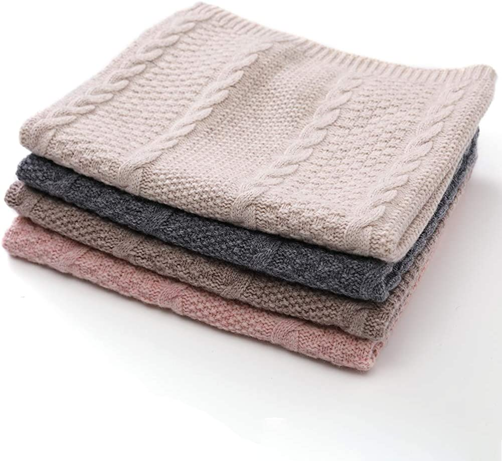 Women's 100% Wool Winter Knitted Infinity Circle Loop Scarves for Women