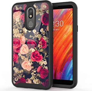 LG Aristo 4 Plus Case, LG Escape Plus Case, LG Tribute Royal Case, LG Arena 2 / Prime 2 / LG K30 2019 Case, BEANLI Drop Protection Hybrid Dual Layer Protective Case for Girls and Women Rose Flowers
