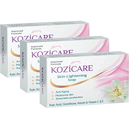 Kozicare Skin Lightening Soap with Kojic Acid, Glutathione & Arbutin - 75g (Pack of 3)
