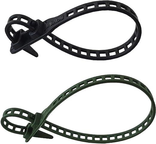 Netproshop 10 X Soft Flexbinder Pflanzenbinder Kabelbinder 7x260mm Schwarz Baumarkt