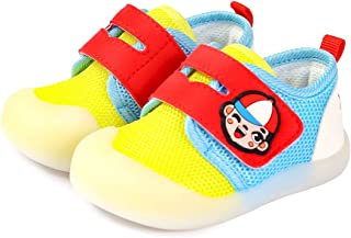 QGAKAGO Baby Toddler Sneakers Breathable Mesh Upper Lightweight Anti-Slip Running Walking Sneakers First Walkers Athletic Shoes