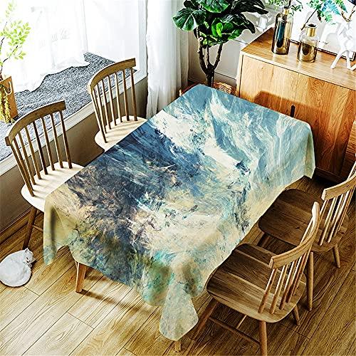 XXDD Mantel Impermeable con Estampado de Costura de Acuarela Simple decoración del hogar Mantel Rectangular Lavable a Prueba de Polvo A1 150x210cm