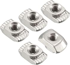 binifiMux 100 Pieces M3x6mm Carbon Steel T-Nuts Zinc Plated 4 Pronged Tee Nut