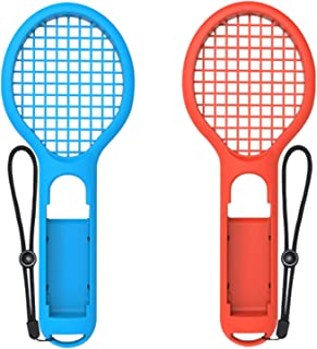 Tennis Racket for Nintendo Switch Joy-Con Controller,Accessories for Nintendo Switch Game Mario Tennis Aces Blue and Red -...