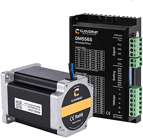 wholesale Cloudray Leadshine 2 Phase outlet sale Stepper Motor discount 23CS30C-500+Stepper Driver DM556S for CO2 Laser Engraving Cutting Machine outlet online sale