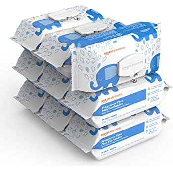 Amazon Elements Baby Wipes, Fragrance-Free, 810 Count