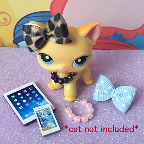 Unbranded LPS Littlest Pet Shop Accessories Bows Necklaces Tablet Phone CAT NOT Included