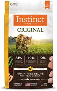 Instinct 6175855 Original Grain-Free Recipe with Real Chicken Dry Cat Food, 5lb