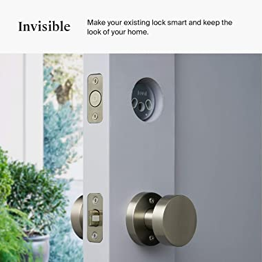 Level Bolt, The Invisible Smart Lock. Bluetooth Deadbolt, Keyless Entry, Smartphone Access, Works with Alexa, Ring and Apple