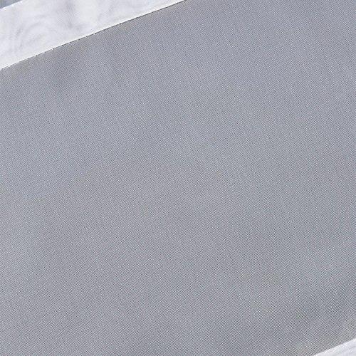 SIMPVALE 1 Stück Raffrollo für Küche und Balkon – Gardinen – Einfaches Aufhängen, Polyester, weiß, Breite 80cm/Höhe 130cm - 3