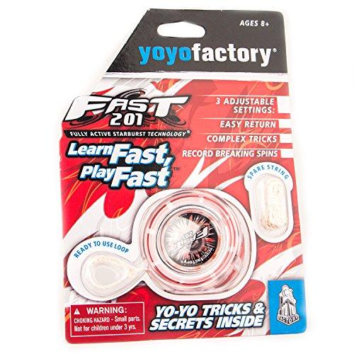 YoyoFactory Fast 201 Yo-Yo - ROT (Ideal für Anfänger, Moderne Leistung YoYo, Metall Kugellager, Freistil Yoyoing Tricks, Schnur und Anleitung Enthalten)