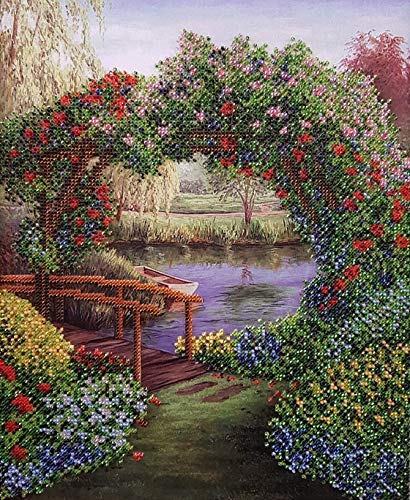 AllAboutEmbroideryUA Bead Embroidery kit Silent Landscape Beaded Cross Stitch...
