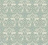 William Morris FS137 Stoff mit Kaninchen, Blaugrün, 0,5 m,