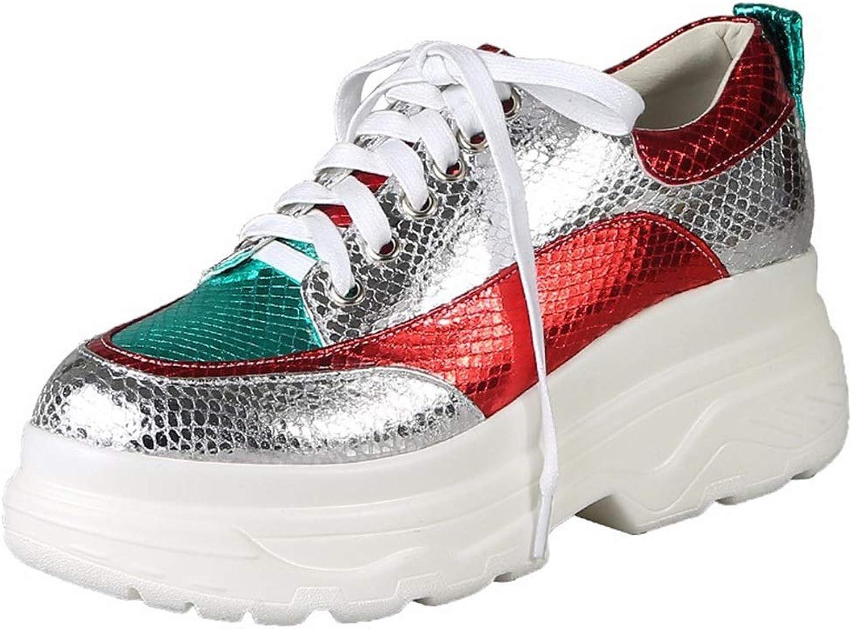 Nya vårskor vårskor vårskor och sommarskor Kvinnors bekväma Plattformade skor Ökade Ensamstående skor Kvinnliga Lösa skor (Färg  Vita, Storlek  34)  i lager