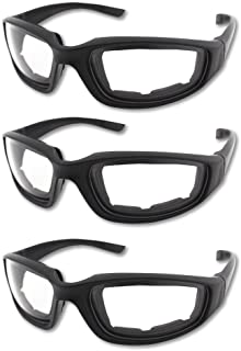 3 Pair Motorcycle Riding Glasses Padding Goggles UV...