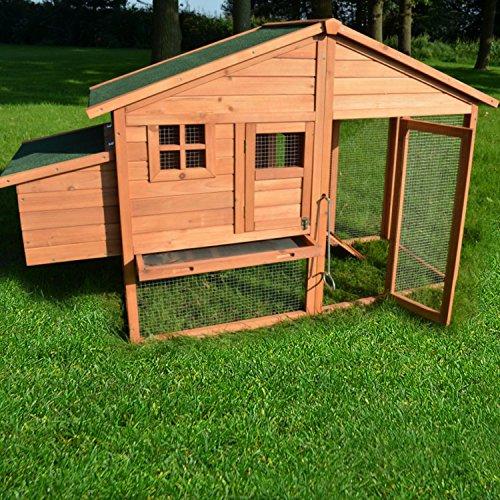 """ZooPrimus Hühner-Stall Nr 14 Geflügel-Voliere """"LUXUS-HÜHNERHAUS"""" Enten-Haus für Außenbereich (Geeignet für Kleintiere: Hühner, Geflügel, Vögel, Enten usw.) - 4"""
