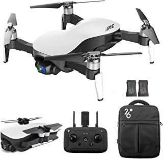 GoolRC JJRC X12 GPS Drone with 4K HD Camera, 3-Axis Stabilized Gimbal, 5G WiFi FPV Brushless Motor Drone, Multi-Modes Positioning Foldable RC Quadcopter for Adults with 2 Battery and Handbag (White)