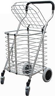 Carro de la Compra de Aluminio Plegable con la Carretilla portátil de la Capacidad Grande de la Tapa Cuatro Ruedas