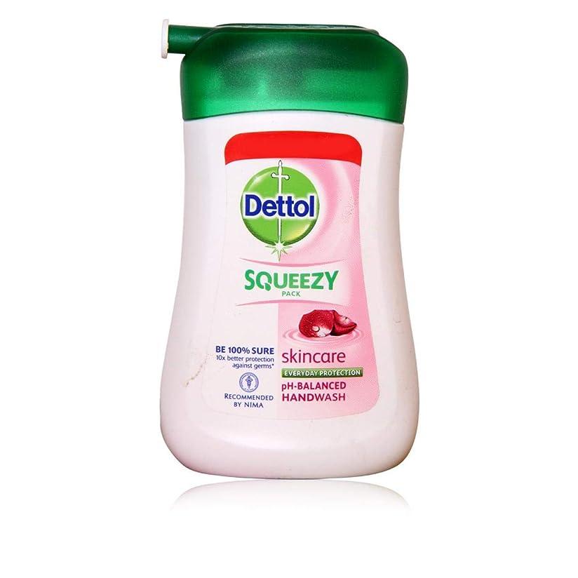 意識的より平らなゴムDETTOL Squeezy Pack Skincare Liquid Hand WASH 100ML