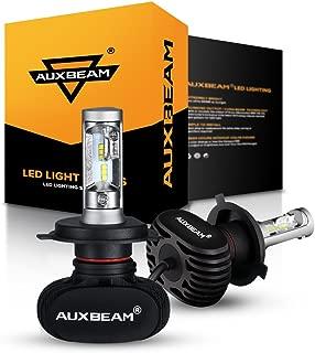 Auxbeam LED Headlight Bulbs NF-S1 Series LED Headlights with 2 Pcs of H4 9003 HB2 P43T CSP LED Headlight Conversion Kit 50W 8000lm 6000K Hi-Lo Beam