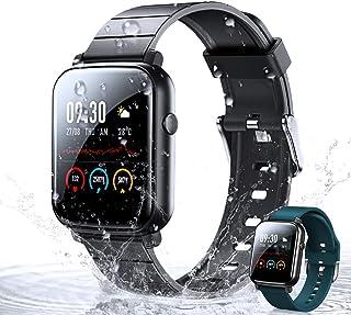 WOEOA Smartwatch, Orologio Fitness Tracker Impermeabil IP68 Cardiofrequenzimetro Sonno Salute delle Donne Contapassi Crono...