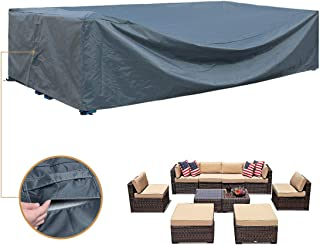 Patio Furniture Set Cover Outdoor Sectional Sofa Set Covers Outdoor Table and Chair Set Covers Water Resistant Heavy Duty 128