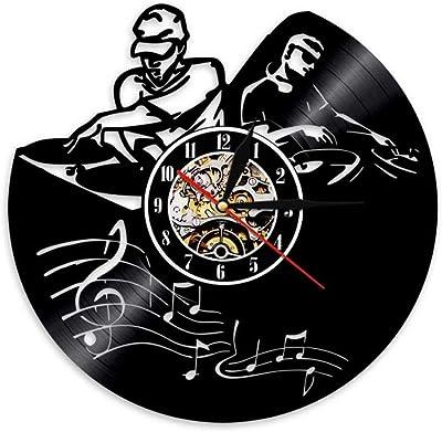 TPYFEI Reproductor de grabación DJ Mixer Reloj de Pared DJ ...