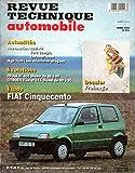 REVUE TECHNIQUE AUTOMOBILE N° 571 FIAT CINQUECENTO / S / CLIM / SPORTING / 899 CM3 / 1108 CM3