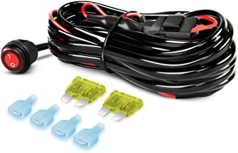 Nilight LED Light Bar Wiring Harness Kit 12V On off Switch Power Relay Blade Fuse for Off Road LED Work Light Bar,2 years Warranty
