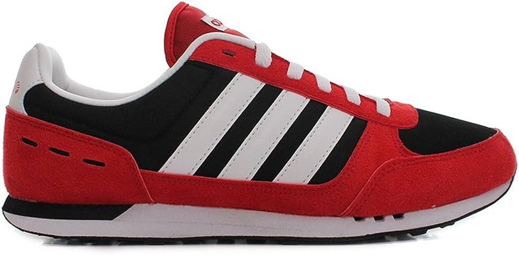 Adidas - Neo City - Couleur: Noir-Rouge - Pointure: 44.6 : Amazon ...