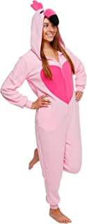 Silver Lilly Slim Fit Animal Pajamas - Adult One Piece Cosplay Pink Flamingo Costume