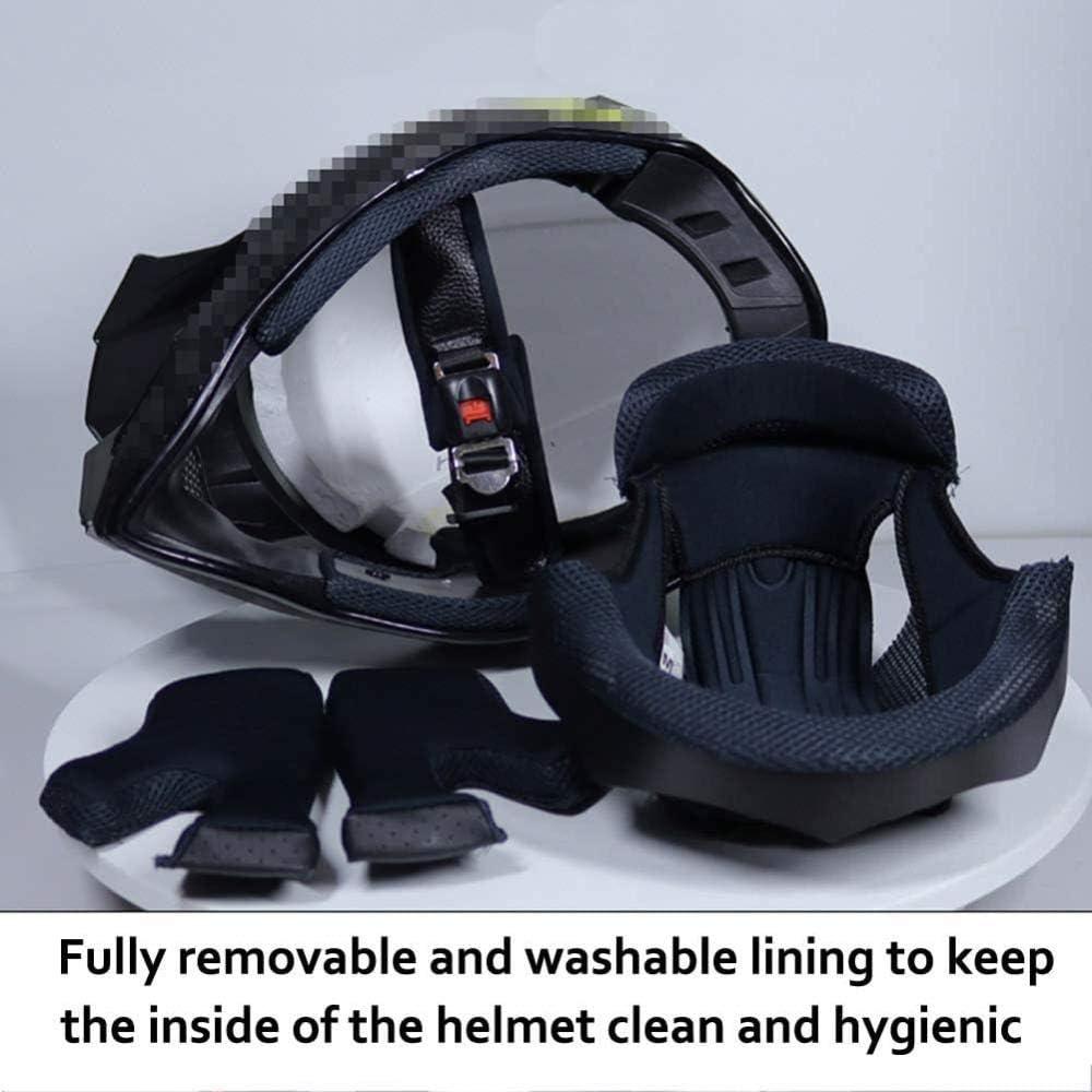 Houl Casco da motocross UFO Style Casco integrale da motociclista Set con occhiali Guanti Maschera Nero Rosso Casco da moto Off-Road Enduro Downhill Quad Dirt Bike ATV BMX Crash Casco-L 58~59 cm