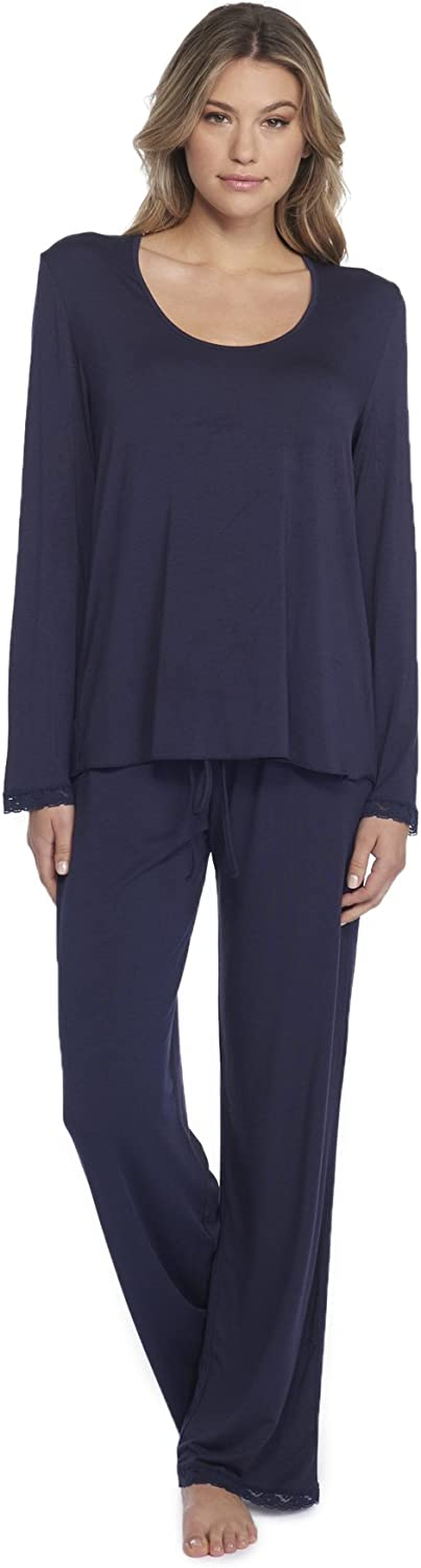 Barefoot Dreams Luxe Milk Jersey Classic Pant & UNeck Long Sleeve Tee Set