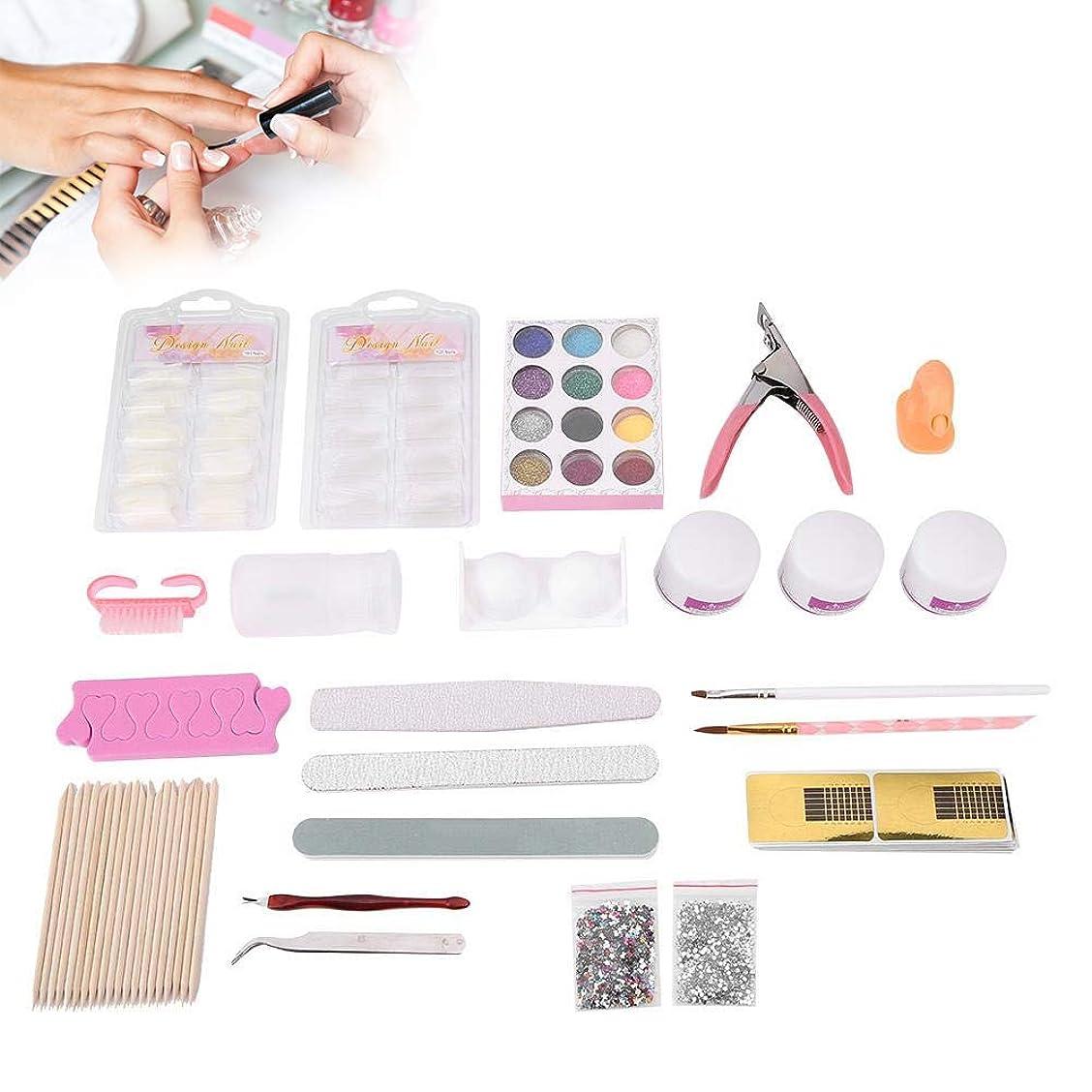 シュガーアーティキュレーション疎外ネイルアートキット 指モデルクリーニングブラシ ネイルのスパンコール DIYの装飾マニキュアキット 62pcs /セット