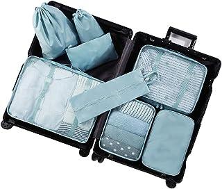 GLJJQMY Backpack Travel Storage Bag Set Luggage Suitcase Suitcase Finishing Travel Waterproof Underwear Storage Bag Bundle Pocket Combination Briefcase (Color : Light Green)