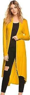 Women's Casual Long Open Front Drape Lightweight Duster High Low Hem Maxi Long Sleeve Cardigan(S-3XL)