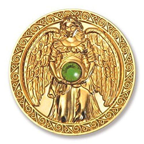 Glücksmünze Engeltaler Gesundheit, Schutzengel Engel Taler 24kt vergoldet mit Swarovski Elements, Glücksbringer Talisman Schutzsymbol Glückstaler