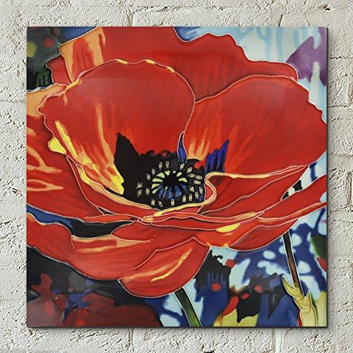 Endless Love di Simon Bull decorativa in ceramica piastrella immagine 12x 12fiori Home Decor Kitchen Wall Plaque Gift floreale