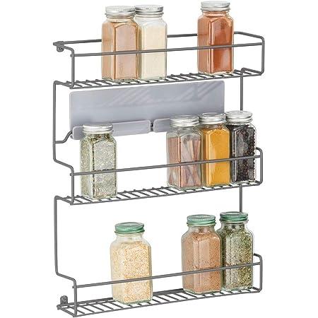 mDesign Estantería metálica – Especieros de cocina ...