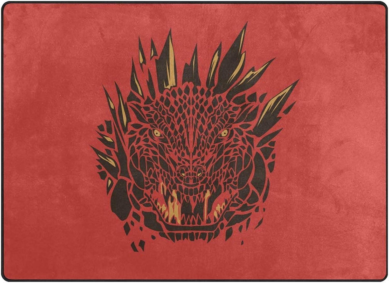 FAJRO Red Fierce Leopard Face Polyester Entry Way Doormat Area Rug Multipattern Door Mat Floor Mats shoes Scraper Home Dec Anti-Slip Indoor Outdoor