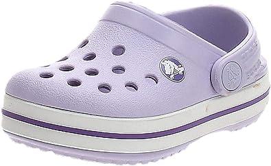 Crocs Crocband Clog K, Zuecos Unisex Niños, 19/20 EU, Morado (Lavender/Neon Purple)